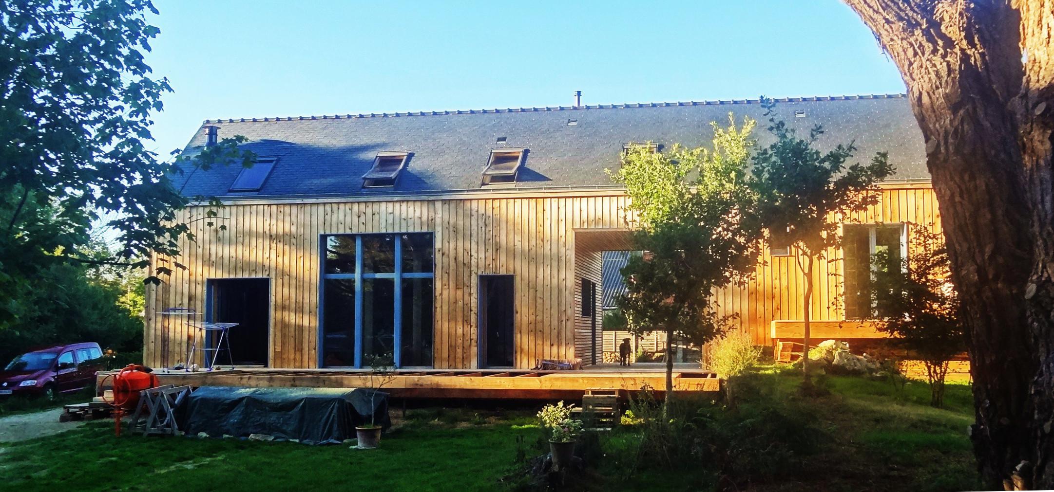 Tyerra architectes architecture habitat sain finist re for Autoconstruction maison en paille