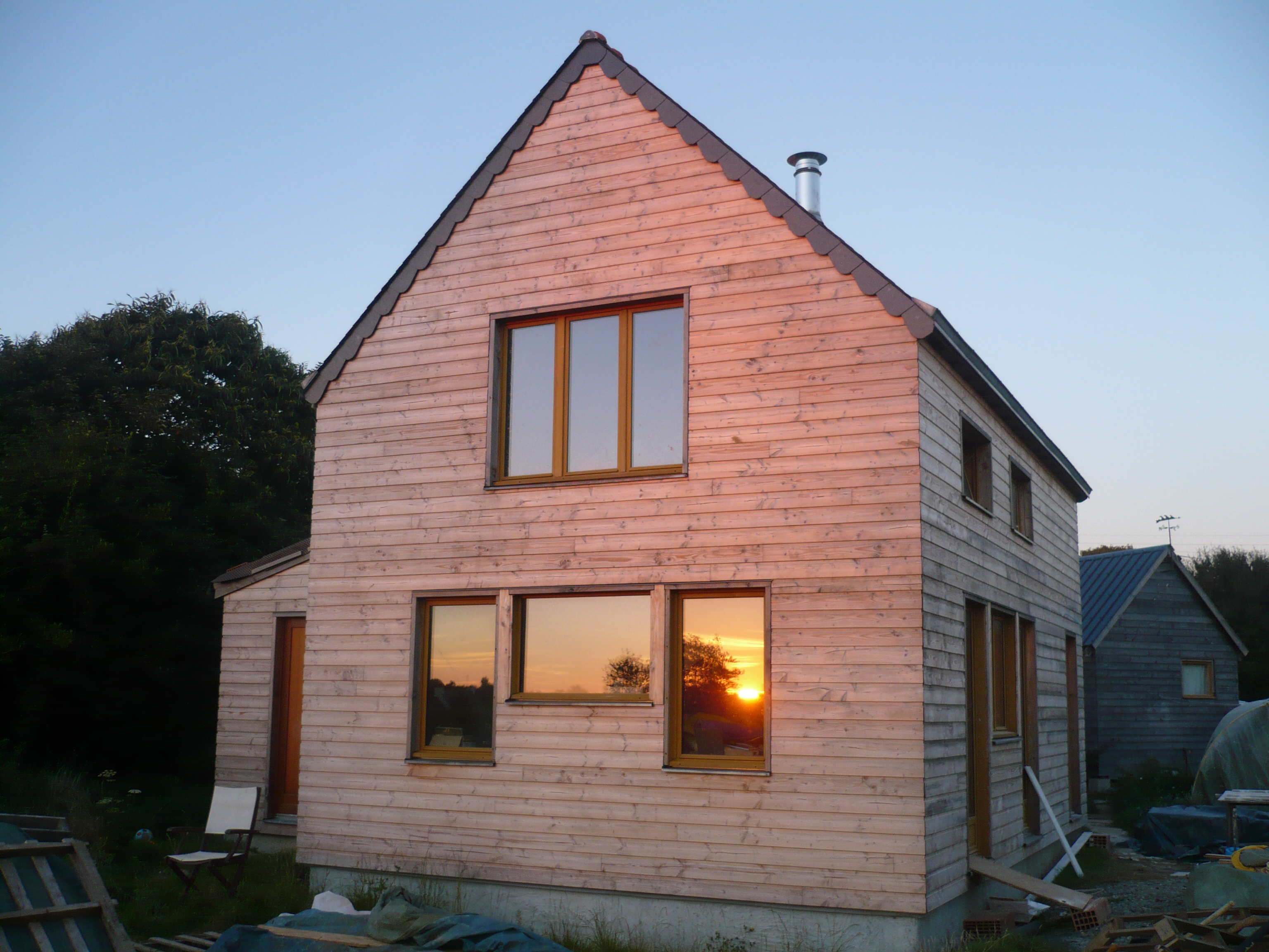 Tyerra architectes architecture habitat sain finist re for Autoconstruction maison en bois