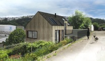 Maison-patio- architecture bois Duarnenez